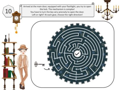 Print and play home escape room for children from 10 years old