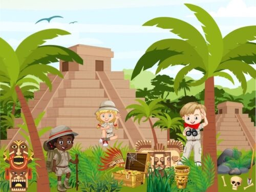 Inca treasure hunt game for kids