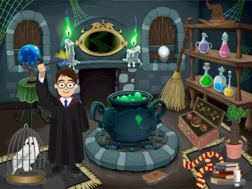 Investigation at the school of wizard party game