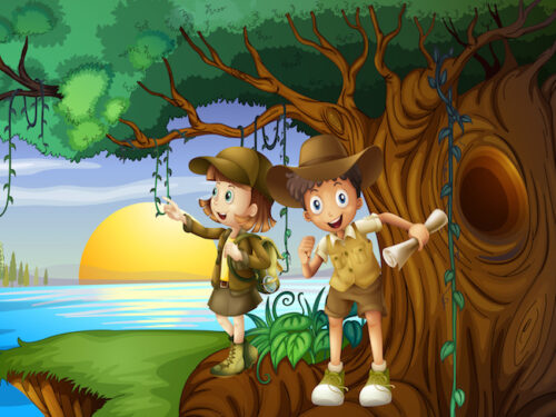 Jungle treasure hunt for kids aged 4-5 years