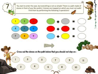 Jungle treasure hunt clue