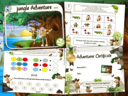 jungle treasure hunt party game