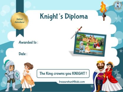 Handwriting knight certificate