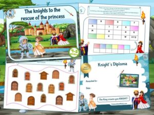 Print a knights treasure hunt to organize a great birthday party!