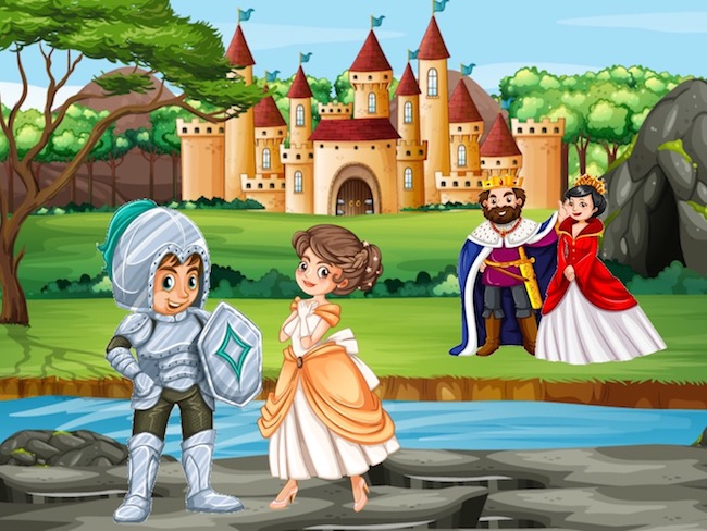 The Knights to the rescue of the princess