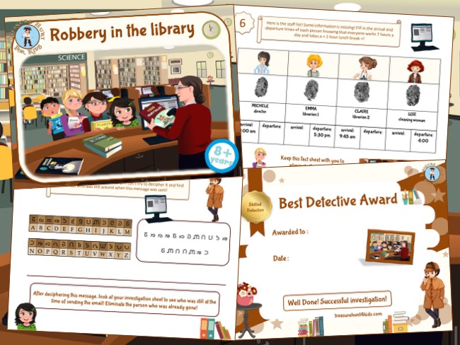 Print and play investigation to print in the library
