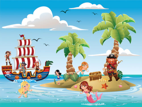 Mermaids and pirates: amazing birthday party game for kids aged 4-5 years