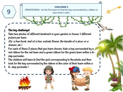 Orienteering for kids for an amazing treasure hunt party game