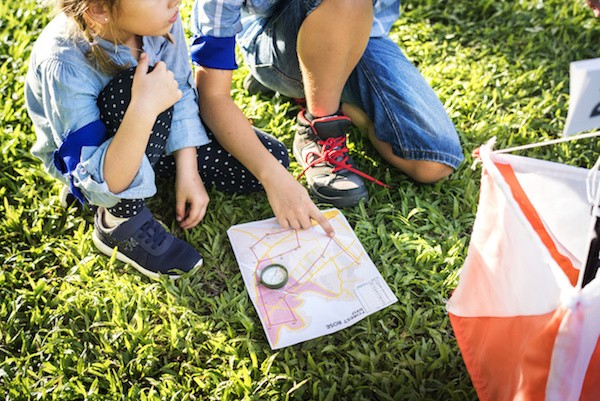 Orienteering race for kids