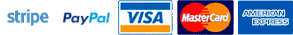 Stripe - PayPal - VISA - MasterCard - American Express