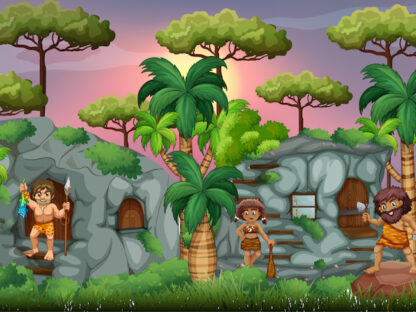 Prehistoric mystery game for kids to learn about prehistory while having fun