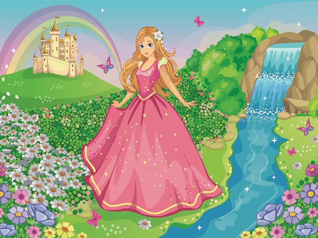 Princess treasure hunt Printable for kids