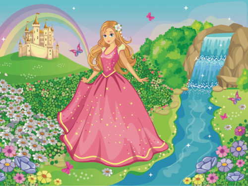 Princess treasure hunt party game for kids
