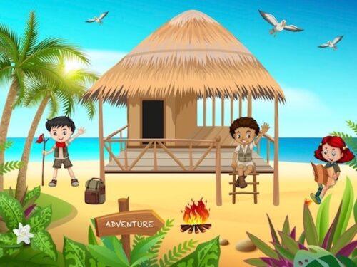 Printable adventure game for kids