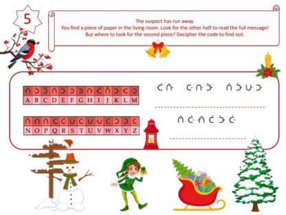 Printable Christmas game clue