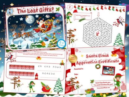 Printable Christmas game kit for kids to play at home