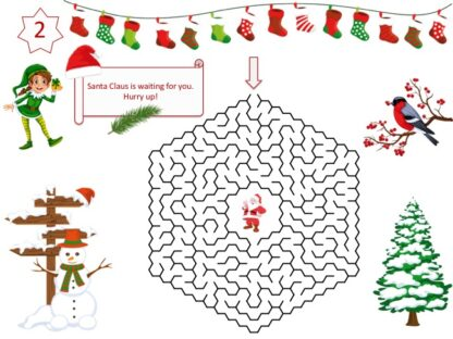 Christmas game puzzle to print for kids
