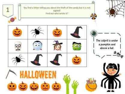 Puzzle Halloween party game
