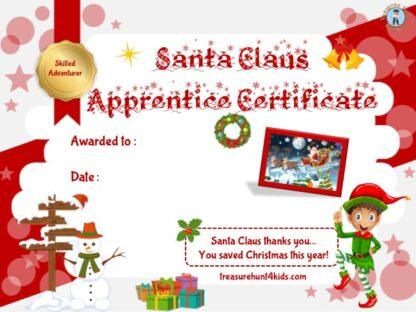 Santa Claus apprentice certificate