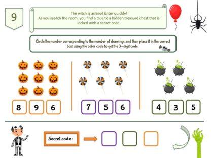 secret code Halloween party game