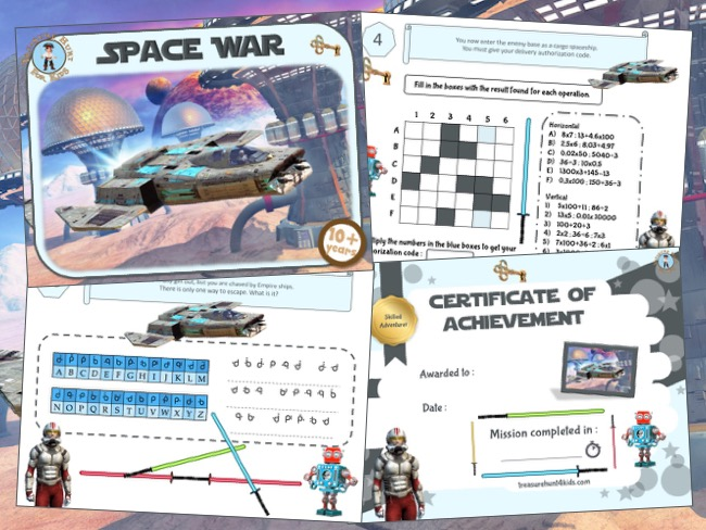 Space war home escape room