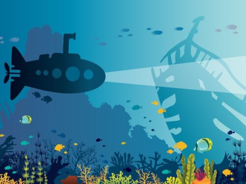 Printable submarine escape room party game