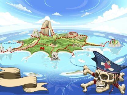 The treasure of the Pirate island : treasure hunt game for kids