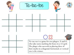 Noughts and crosses activity for kids to print for free