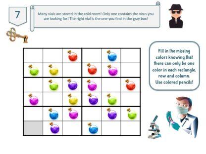 Underground lab escape room puzzle game