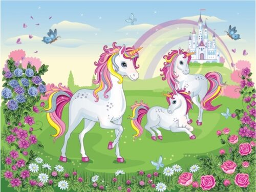 Unicorn treasure hunt game for kids aged 6-7 years