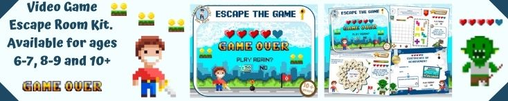 Video game escape room kit