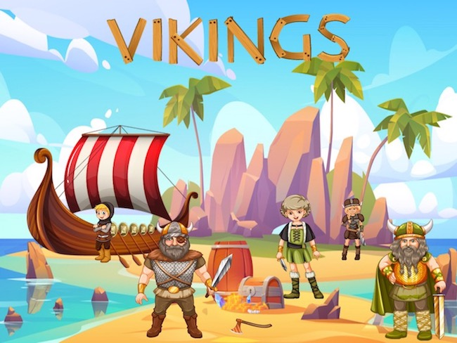 printable birthday party activity, Viking-themed.