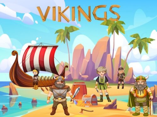 Viking birthday party game printables for kids aged 6-7 years