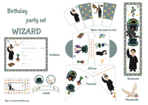 Wizard birthday party printables and decorations!