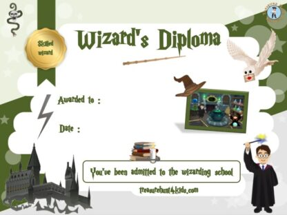 Wizard certificate to print