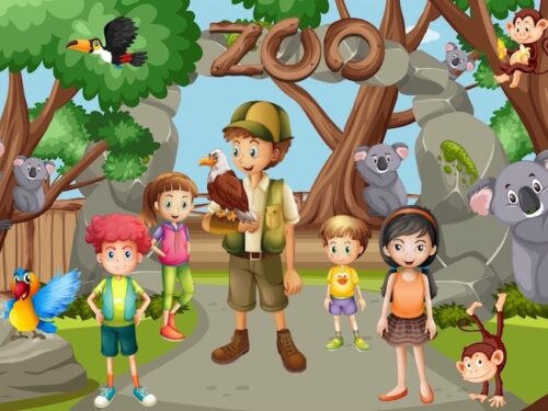Print and play Zoo Adventure Game