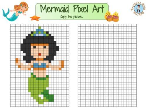 Mermaid pixel art