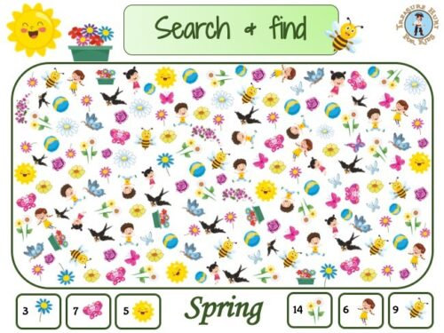 Spring search and find to print for kids