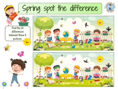 Spring spot the differences