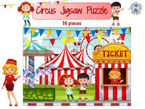 Circus jigsaw puzzle to print