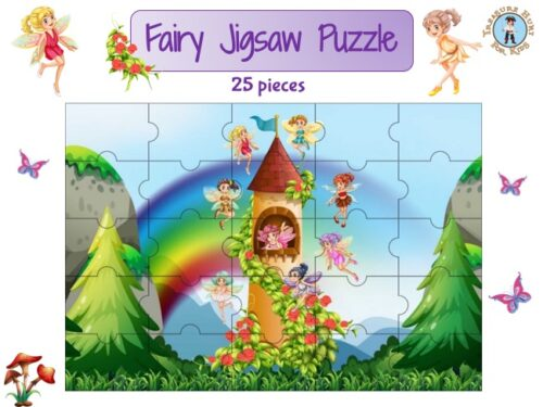 Fairy jigsaw puzzle to print