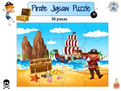 Pirate printable jigsaw puzzle