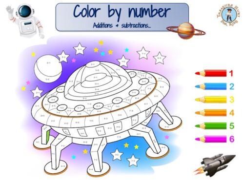 space color by number