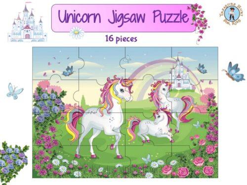 Unicorn jigsaw puzzle to print