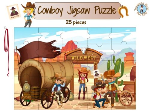 cowboy jigsaw puzzle to print