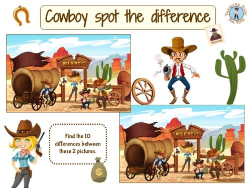 Cowboy spot the difference game