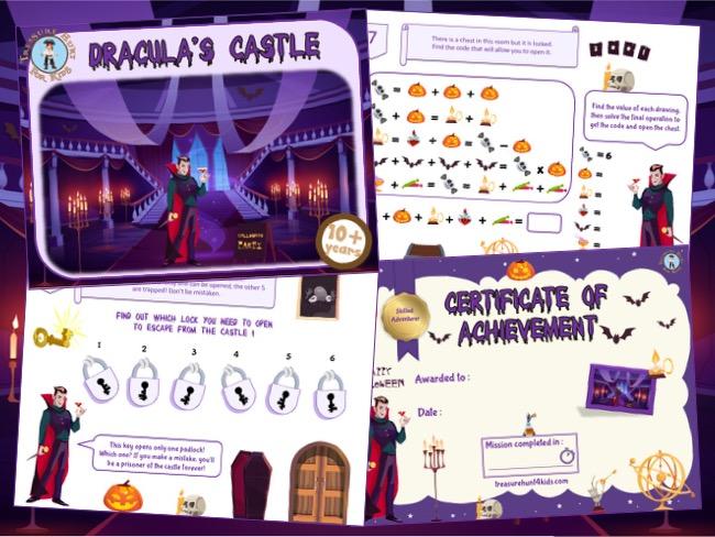Dracula escape room to print