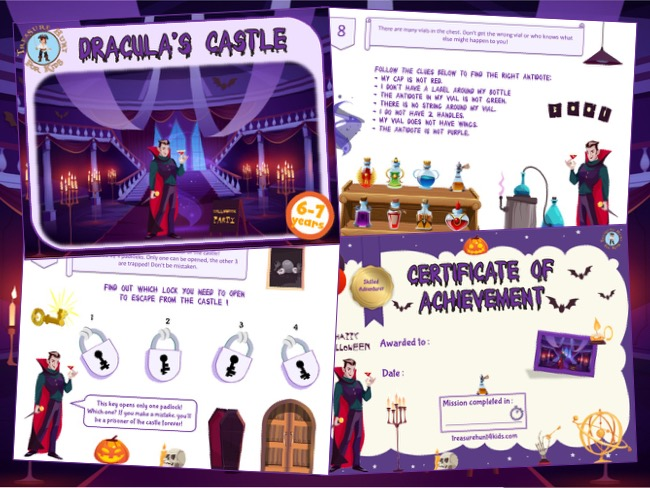 Halloween escape room kit for kids to play at home