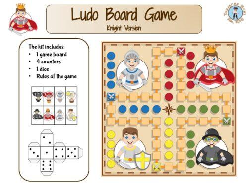 Ludo board game, printable template