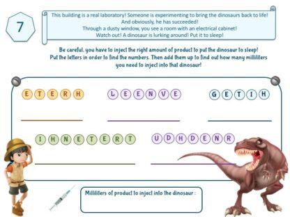 dinosaur adventure game puzzle